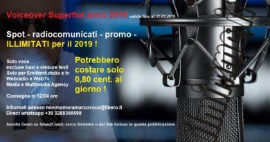 """VoiceOver : promozione """"SuperFlat"""" fino al 31.01.2019"""
